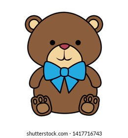 cutte little bear teddy with bowtie