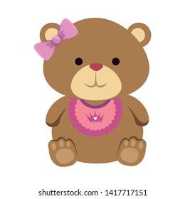 cutte little bear teddy female with bows