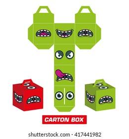 cutting monster box