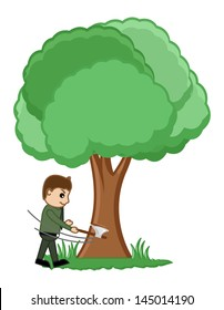 Cartoon Tree Cutting Images Stock Photos Vectors Shutterstock Max c4d obj 3ds fbx. https www shutterstock com image vector cutting tree vector illustration 145014190