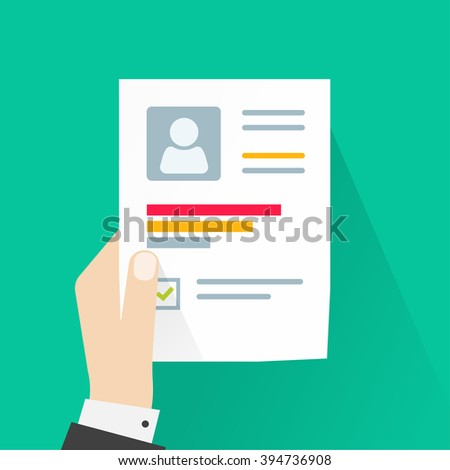 CV Application Paper Sheet Business Man Stock Vector (Royalty Free ...