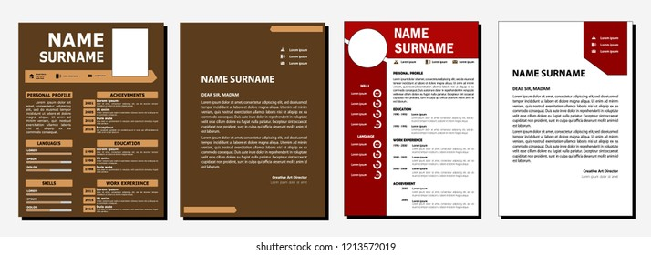 cv cocolate and red color template