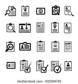 cv curriculum vitae profile resume vector paper icon