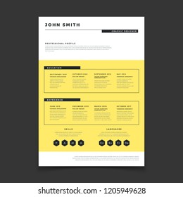 Cv form template. Professional resume stylish elegance template. Letter simple cover vector mockup. Illustration of cv interview candidate, profile with experience and education