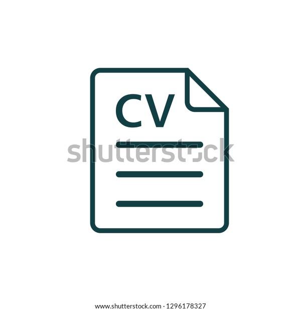 Cv Icon Resume Symbol Logo Template Stock Vector Royalty Free
