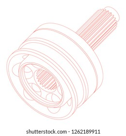 CV Joint Auto Part in Vector