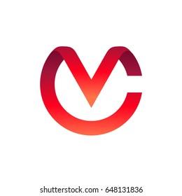 CV Logo, Letter C And Letter V Initial Logo Template