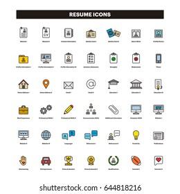 Imágenes Fotos De Stock Y Vectores Sobre Iconos Cv