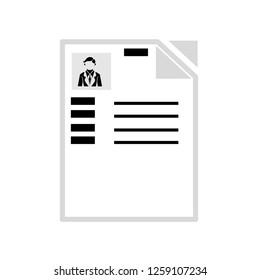 CV resume icon