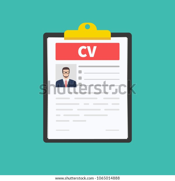 Cv Resume Job Interview Concept Employment Stock Vector Royalty