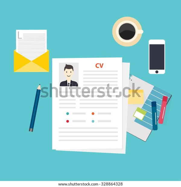 Cv Resume Job Interview Concept Writing Stock Vector Royalty Free