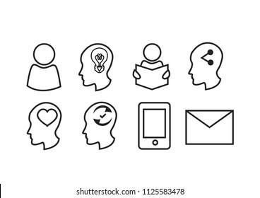 CV Resume line icons