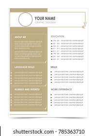 cv resume cover letter template elegant のベクター画像素材