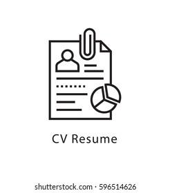 CV Resume Vector Line Icon