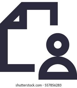 Cv Vector Icon