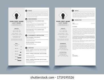 CV/RESUME Template Design With Cover Letter