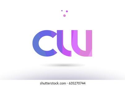 cw c w alphabet letter purple pink magenta blue colorful creative colors text dots creative company logo vector icon design template