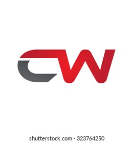 CW company linked letter logo