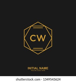 CW Initial logo letter with minimalist concept