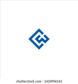 CW letter logo design template