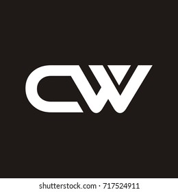 CW letter logo design template vector