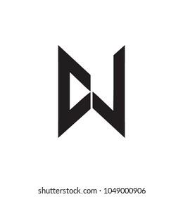 cw letter vector logo