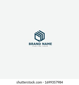 CW letters initial logo design vector