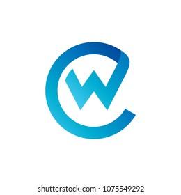 CW Logo, Initial Letter Logo Template, Letter C + Letter W Logo