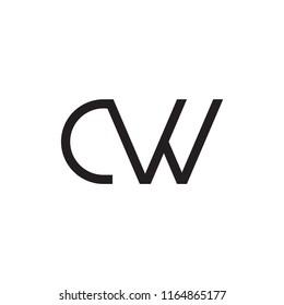 CW logo letter design