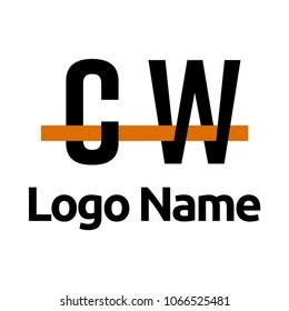 cw logo line
