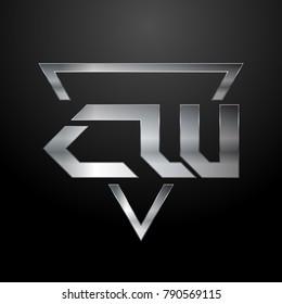 CW Logo, Monogram, Metal