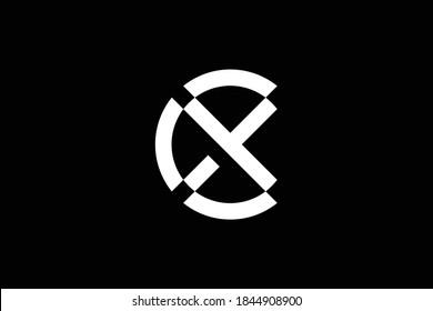 CX letter logo design on luxury background. XC monogram initials letter logo concept. CX icon design. XC elegant and Professional letter icon design on black background. C X XC CX