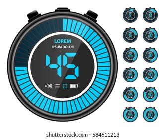 Imágenes, fotos de stock y vectores sobre Digital Stopwatch
