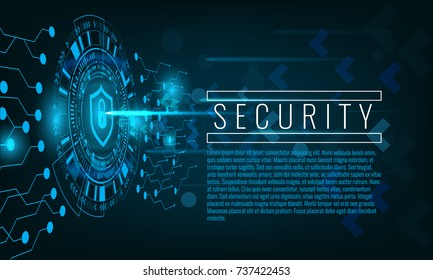 Cyber attack and security concept techno background. Illustrated vector.