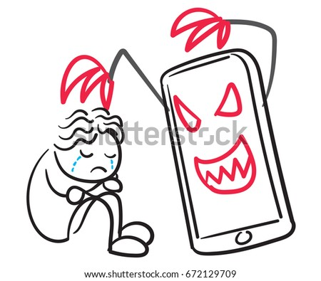 Cyber Bully Stock Vector Royalty Free 672129709