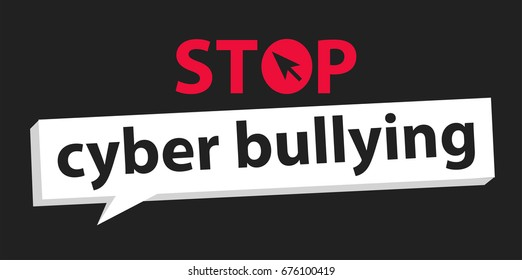 cyber bullying background design graphic vector illustrations