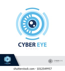 Cyber eye symbol icon. vector illustration, Logo template design.