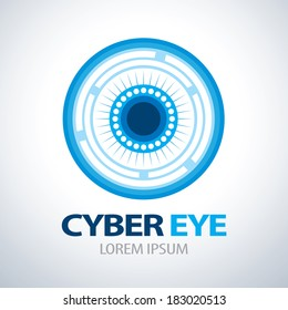 Cyber eye symbol icon. vector illustration , Logo template design