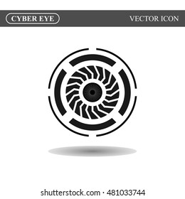 Cyber eye symbol icon, vector illustration