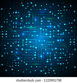 Cyber future technology .Electrical circuit .Technologies abstract background