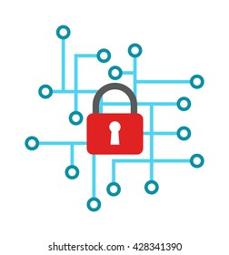 Cyber icon security design and cyber icon vector illustration