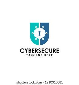 Cyber Logo Design Vector Template