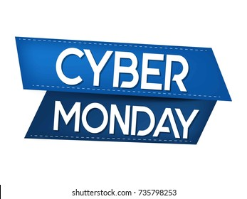Cyber Monday background with Sale concept. Vector illustration