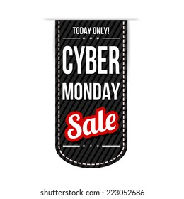 Cyber Monday banner design over a white background, vector illustration