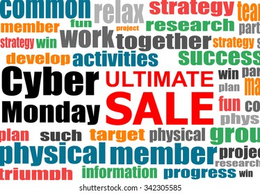 Cyber Monday banner design. Cyber monday sale concept. Vector illustration