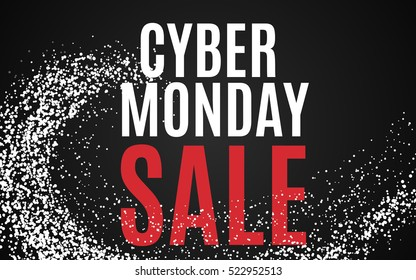 Cyber monday Big sale banner color design. Vector illustration template