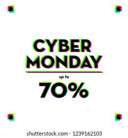 CYBER MONDAY DESIGN. DISCOUNT , PROMOTION, MINIMAL DIGITAL LAYOUT