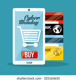 cyber monday design, vector illustration eps10 graphic