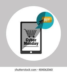 Cyber Monday design, vector illustration