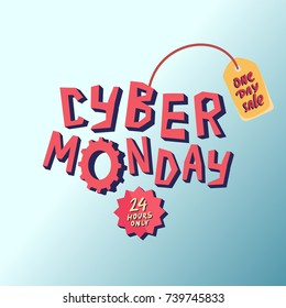 Cyber Monday Sale background. Vector illustration.